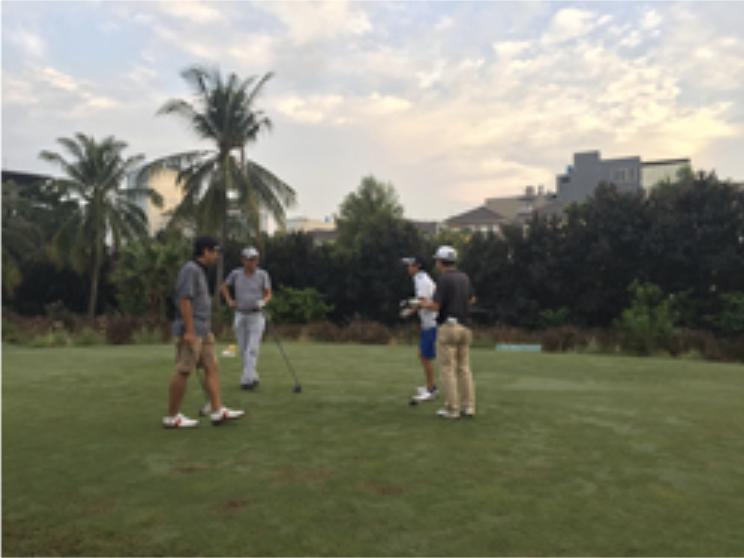 恒例のゴルフ大会