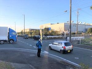冬の交通安全立哨活動