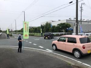 夏の交通安全立哨活動