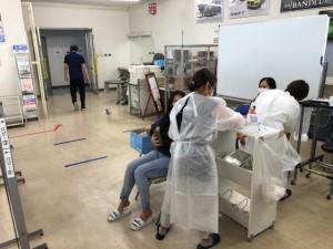 コロナワクチン職域接種を実施中